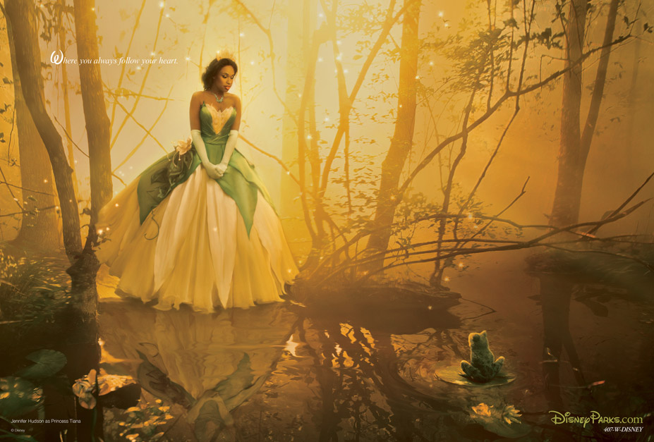 Disney's Year of a Million Dreams by Annie Leibovitz - Jennifer Hudson as Princess Tiana / Дженнифер Хадсон в образе Принцессы Тианы
