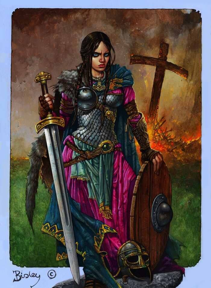 Бленда (героиня шведской легенды, которая возглавила народное восстание против датских завоевателей) - Simon Bisley