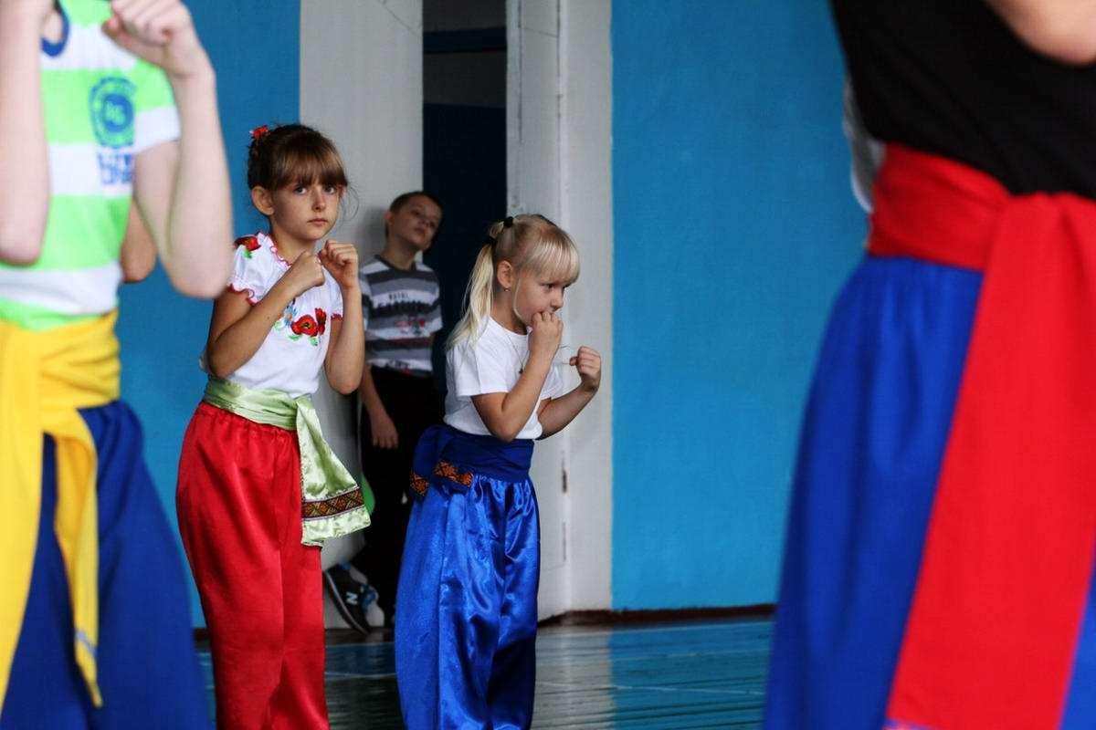 Квалификационный групповой экзамен в школе боевого гопака города Нетешин (Хмельницкая область) (14)