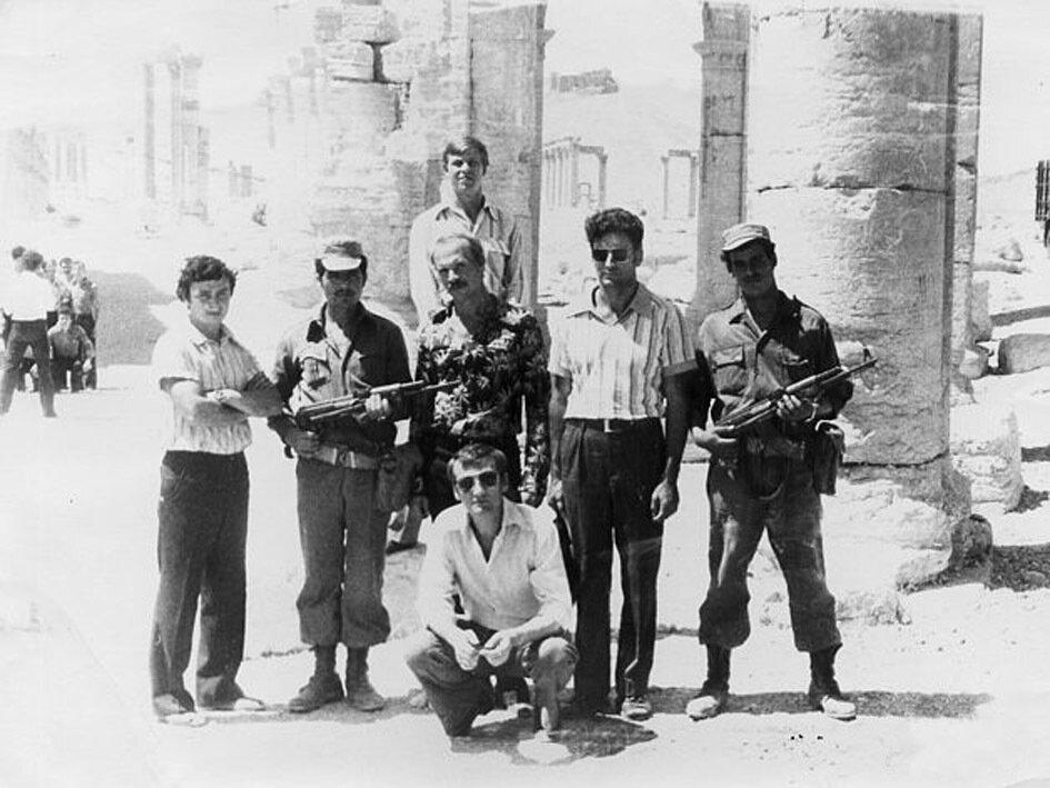 1981. Сирия. С командиром и под охраной