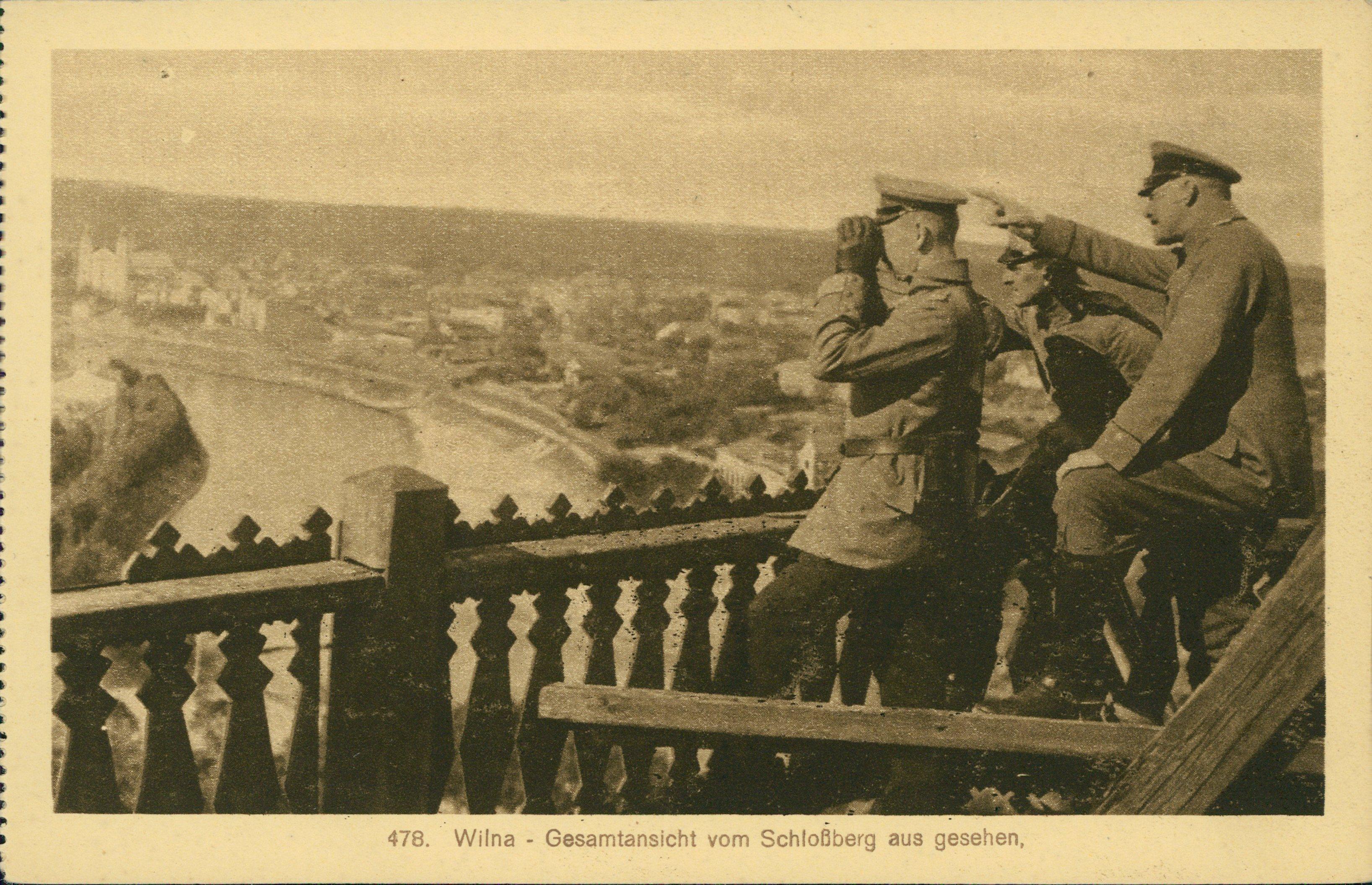 Общий вид с Замковой горы. 1917