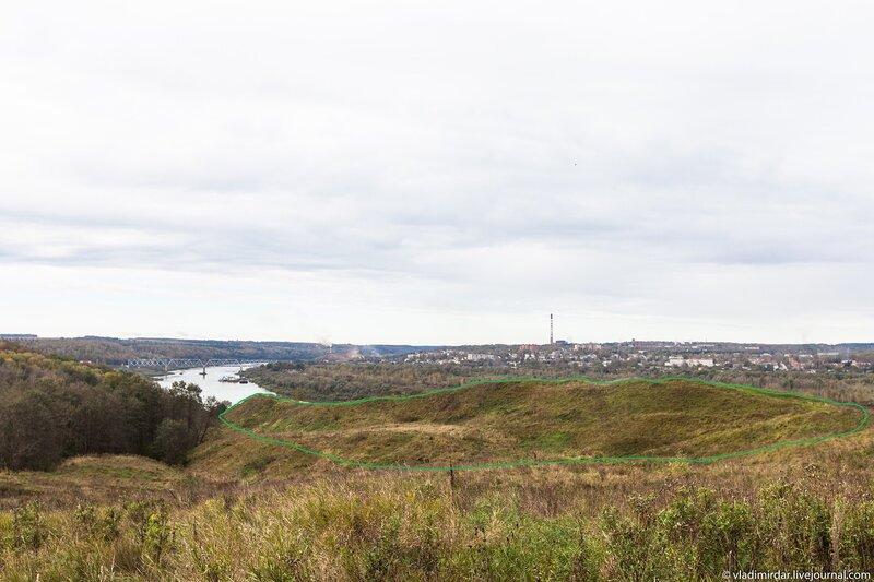 Ильинская гора, где стояла первая крепость Алексина