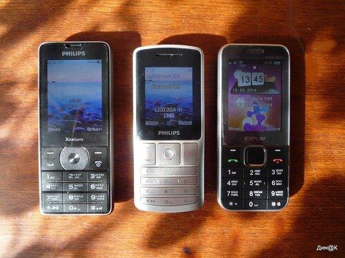 Philips Xenium X1560, X130 и Explay Power Bank