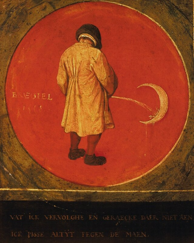 Pieter Bruegel I<br>Title Pissing on the Moon<br>Work Type painting<br>Repository Musée Mayer van den Bergh