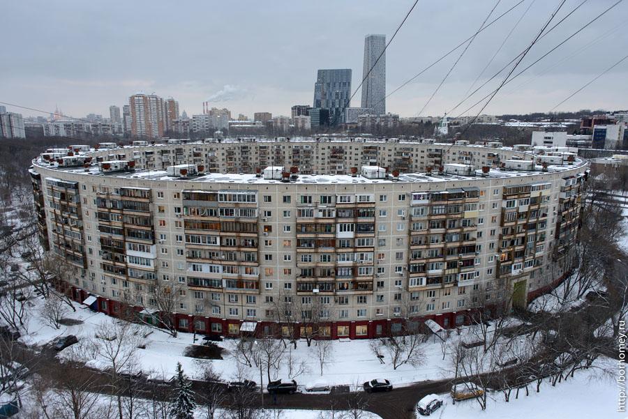 фотография круглого дома на довженко 6 с высоты