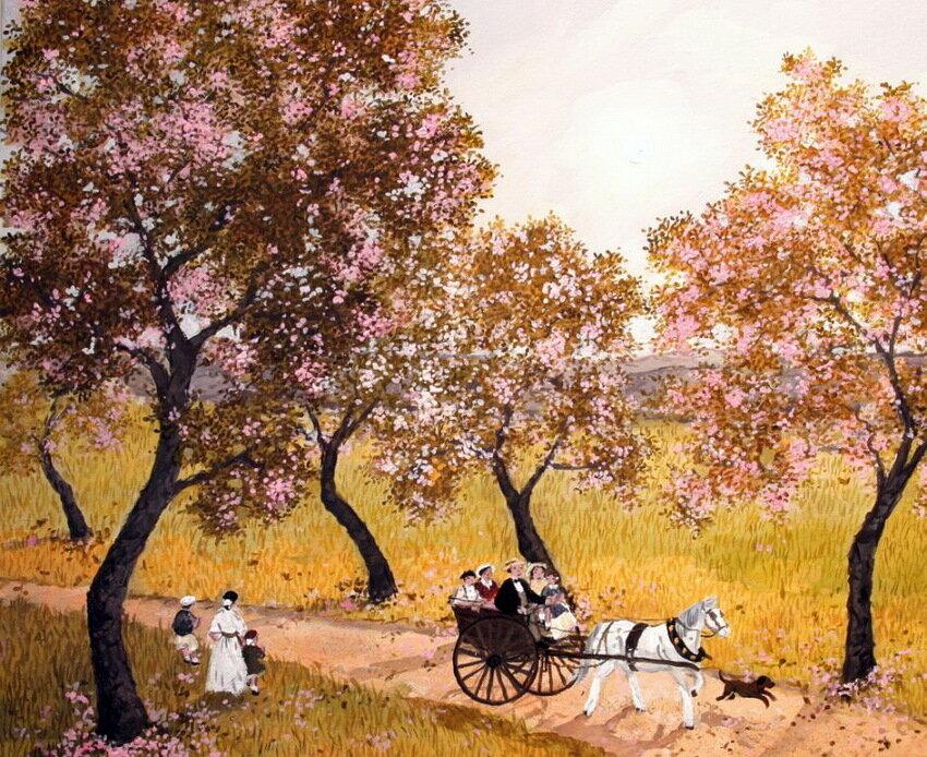 Наивная живопись французских художников  Fabienne и Michel Delacroix