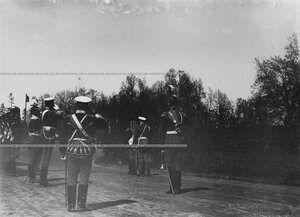 Встреча императора Николая II  на храмовом празднике  Конно-гренадерского полка .