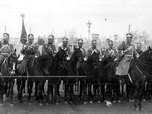 Штандартный взвод полка  на параде.