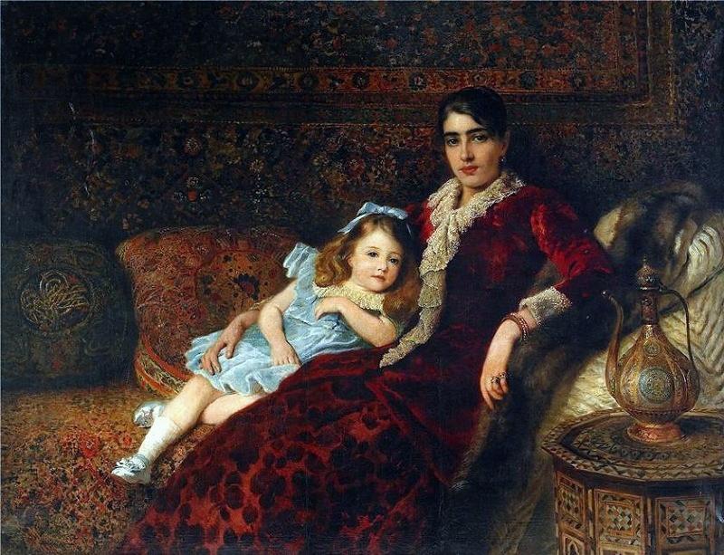 Мать и дочь в интерьере 1883. К.Маковский