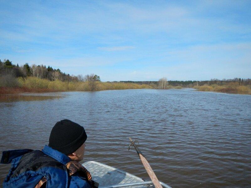 Озеро на месте разлившейся во время половодья речки Елховки