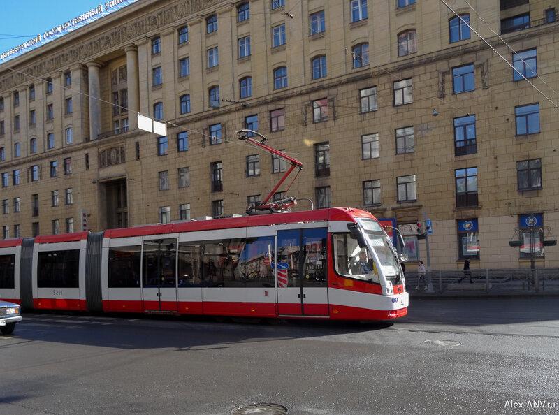 Новый трамвай на Садовой