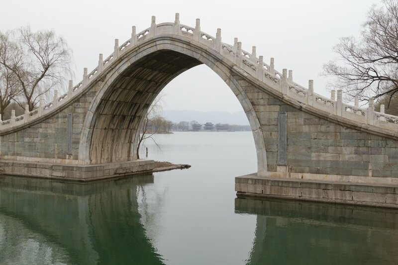 Мост нефритового пояса, парк Ихэюань, Пекин