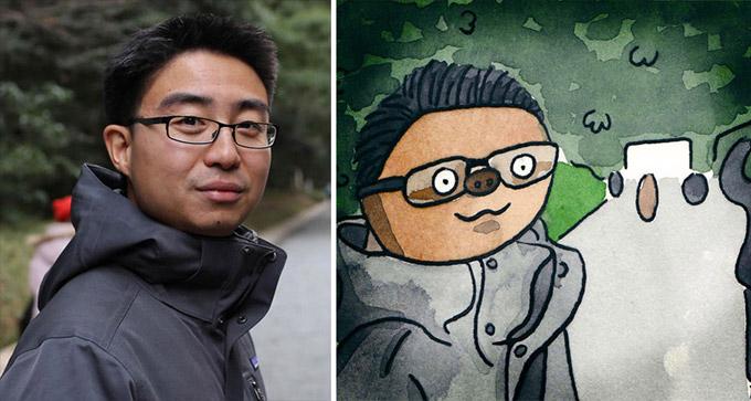 Artista transforma pessoas e personagens em preguicas