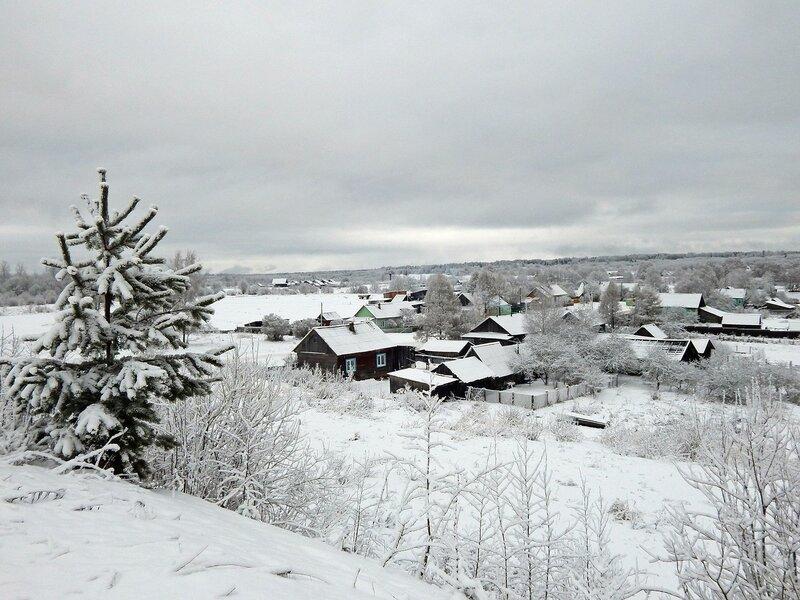 Предновогодняя деревня