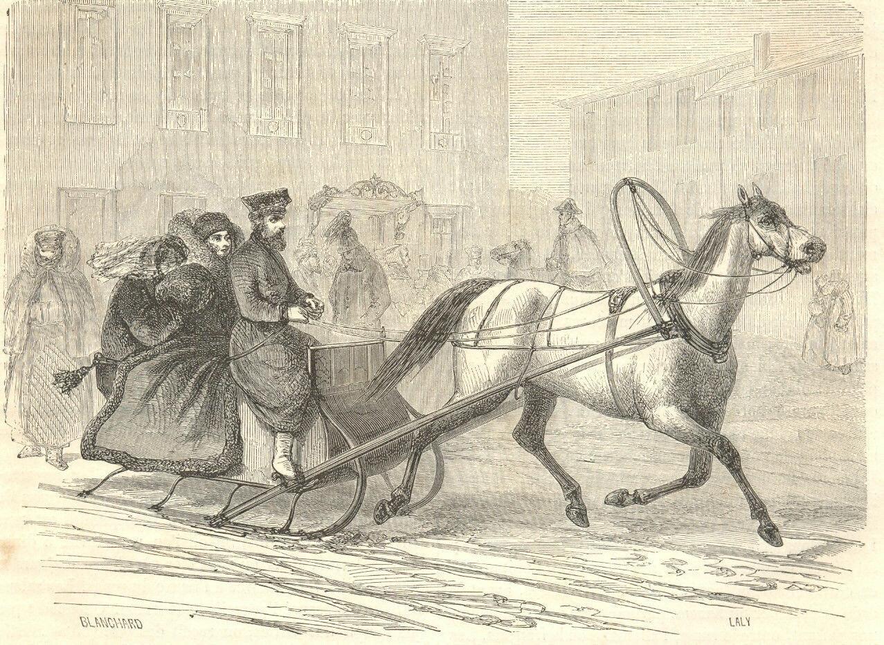1861. Городские сани