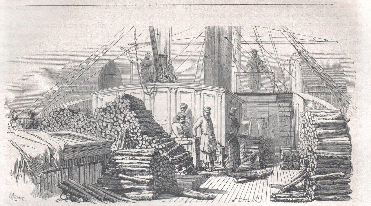 1867. Корабль на Волге