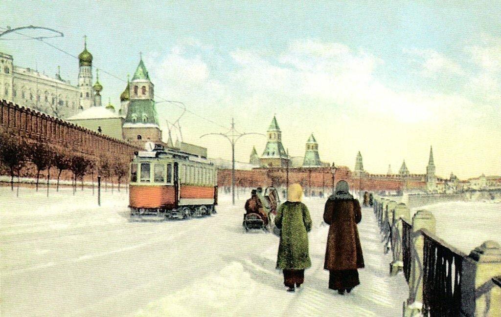 Москва Зимою. Набережная Москвы-реки