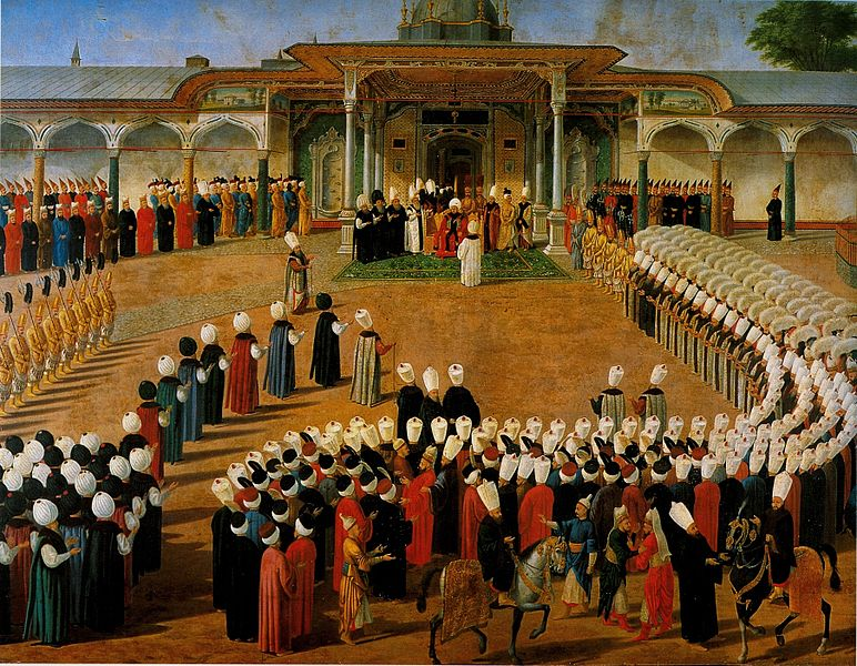 772px-Konstantin_Kapidagli__Jülüs_ceremony_(Enthronement_ceremony)_of_Selim_III__c__1789__Topkapi_Saray_museum.jpg