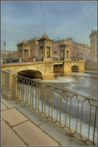 Санкт-Петербург.  Февраль 2014. Ломоносовский мост.