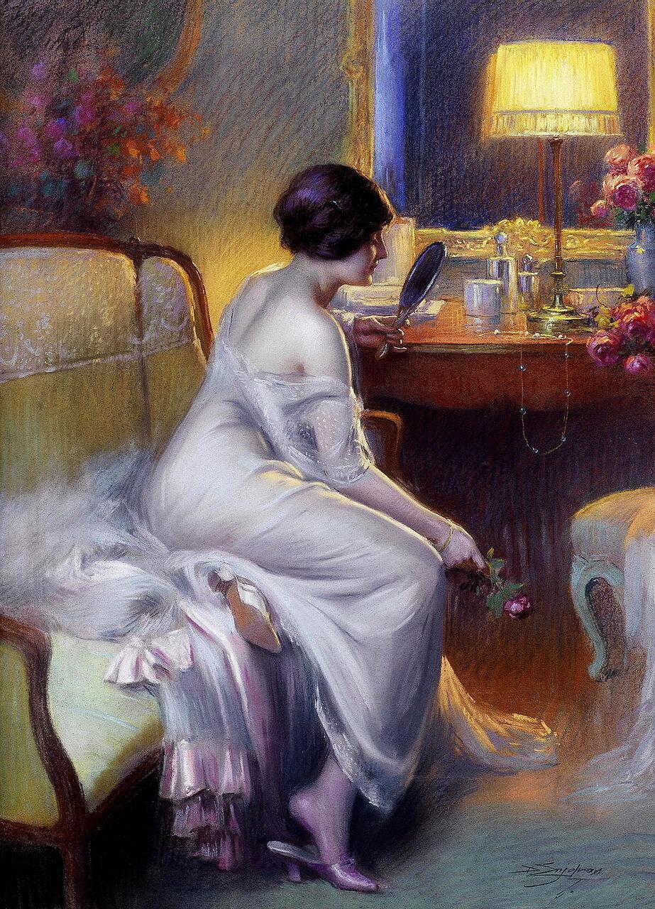 Delphin Enjolras (French, 1857-1945) - A fair reflection