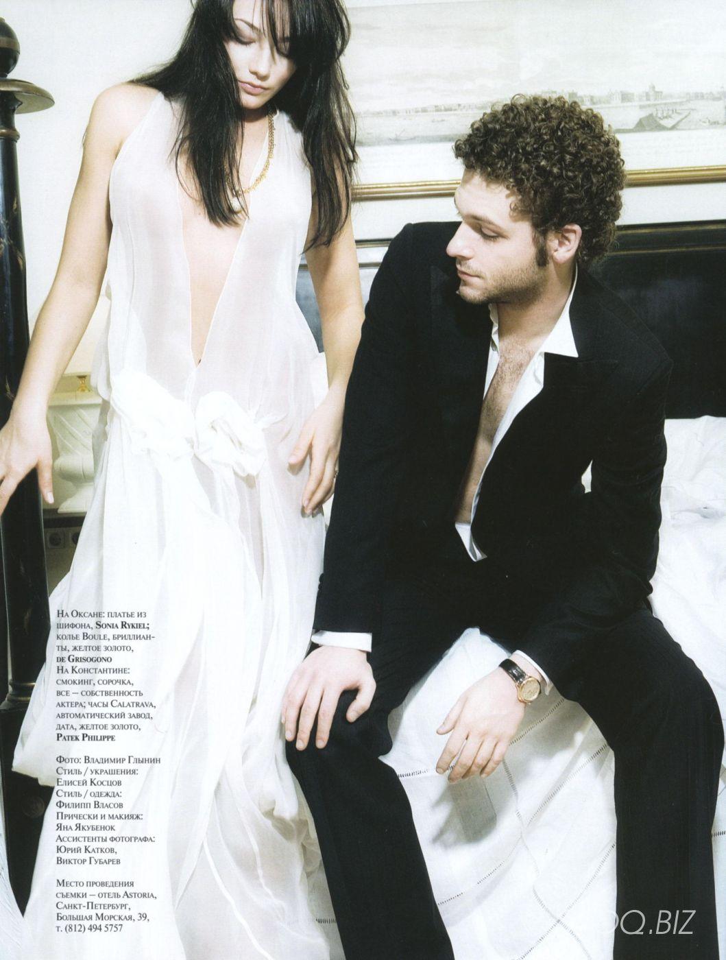 Оксана Акиньшина голая фотосессия в журнале GQ 2003