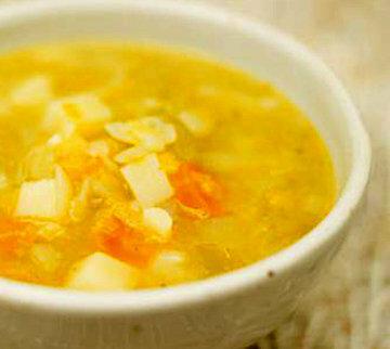 Разлить по суповым тарелкам