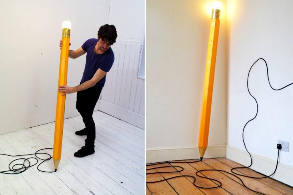 Дизайнеры студии «Майкл иДжордж Лондон» создали карандаш, который может освещать комнату. Черные ли