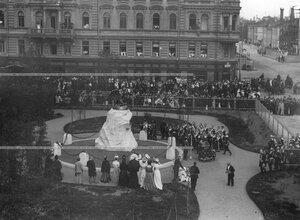 Молебен в честь открытия памятника подвигам Саперного батальона .