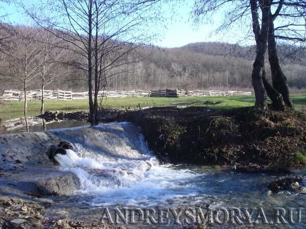 Река Адегой в хуторе Ахонка