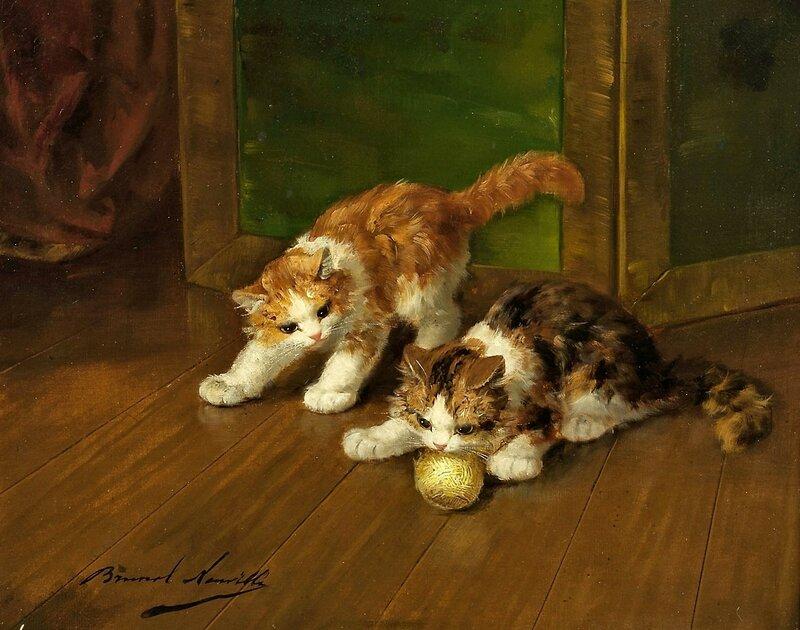 Котята, играющие с мотком.jpg