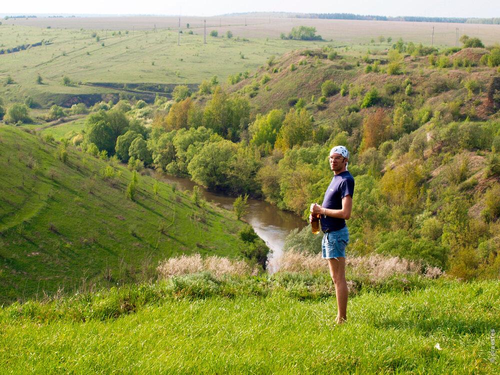 Вид на долину Дона с Галичьей горы. Снимок 2012 года.