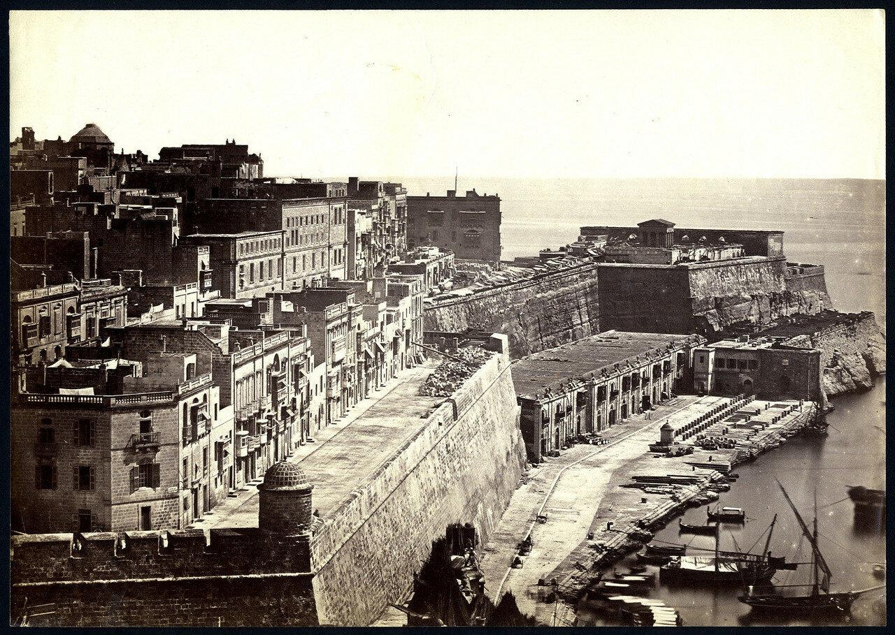 Валлета. Мальта. Живописный вид с форта Св.Варвары. 1860