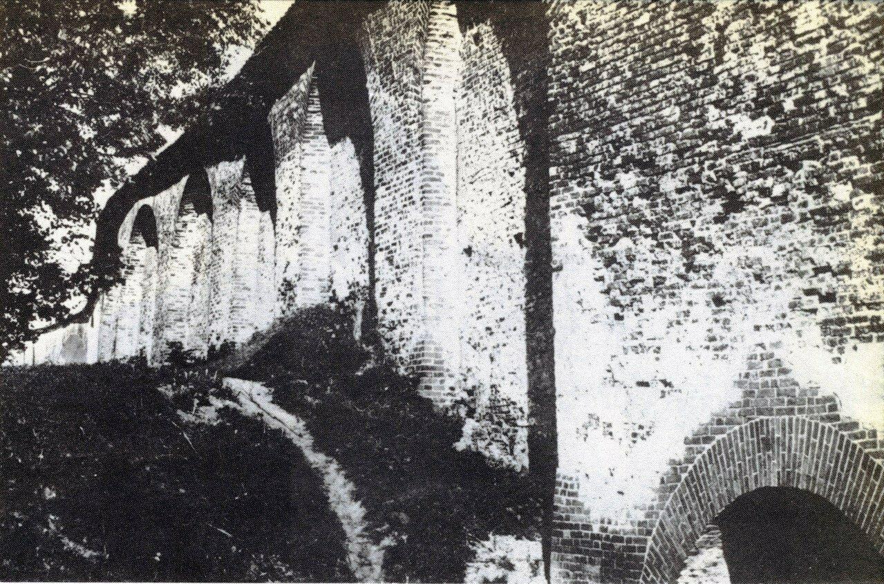 Внутренний фасад крепостной стены. 1913.