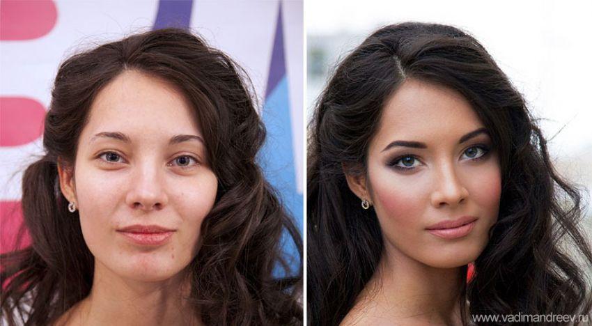 макияж для выпуклых глаз до и после фото