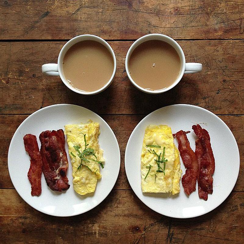 Симметричные завтраки в Instagram (16 фото)