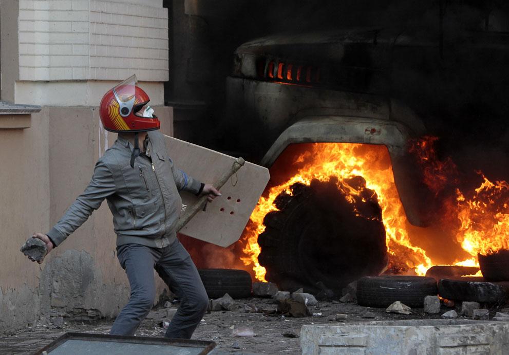 Кровавый бой в Киеве