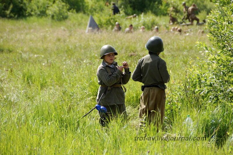 Юные патриоты. 22 июня, реконструкция начала ВОВ в Кубинке (2 часть)