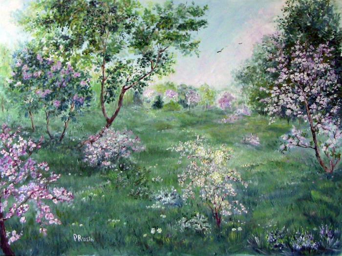 """картина""""Весна"""", моя работа"""