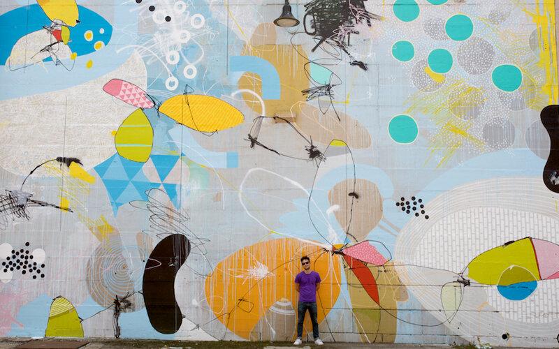 HENSE - абстрактный стрит-арт, или граффити под настроение. 13 примеров работ.