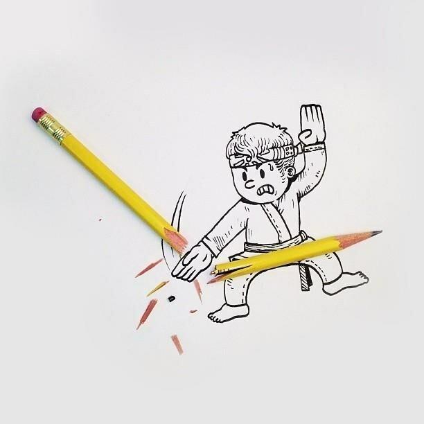 Забавные рисунки от веб-дизайнера с хорошим воображением Алекса Солиса