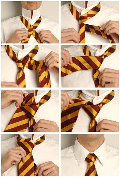 галстук крестовой узел