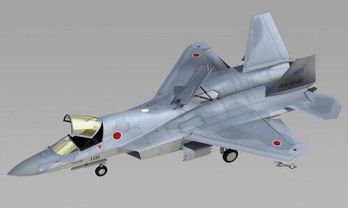 Таким видится истребитель 5-го поколения японцам. Этот кажется. еще и вертикально взлетать-садиться будет