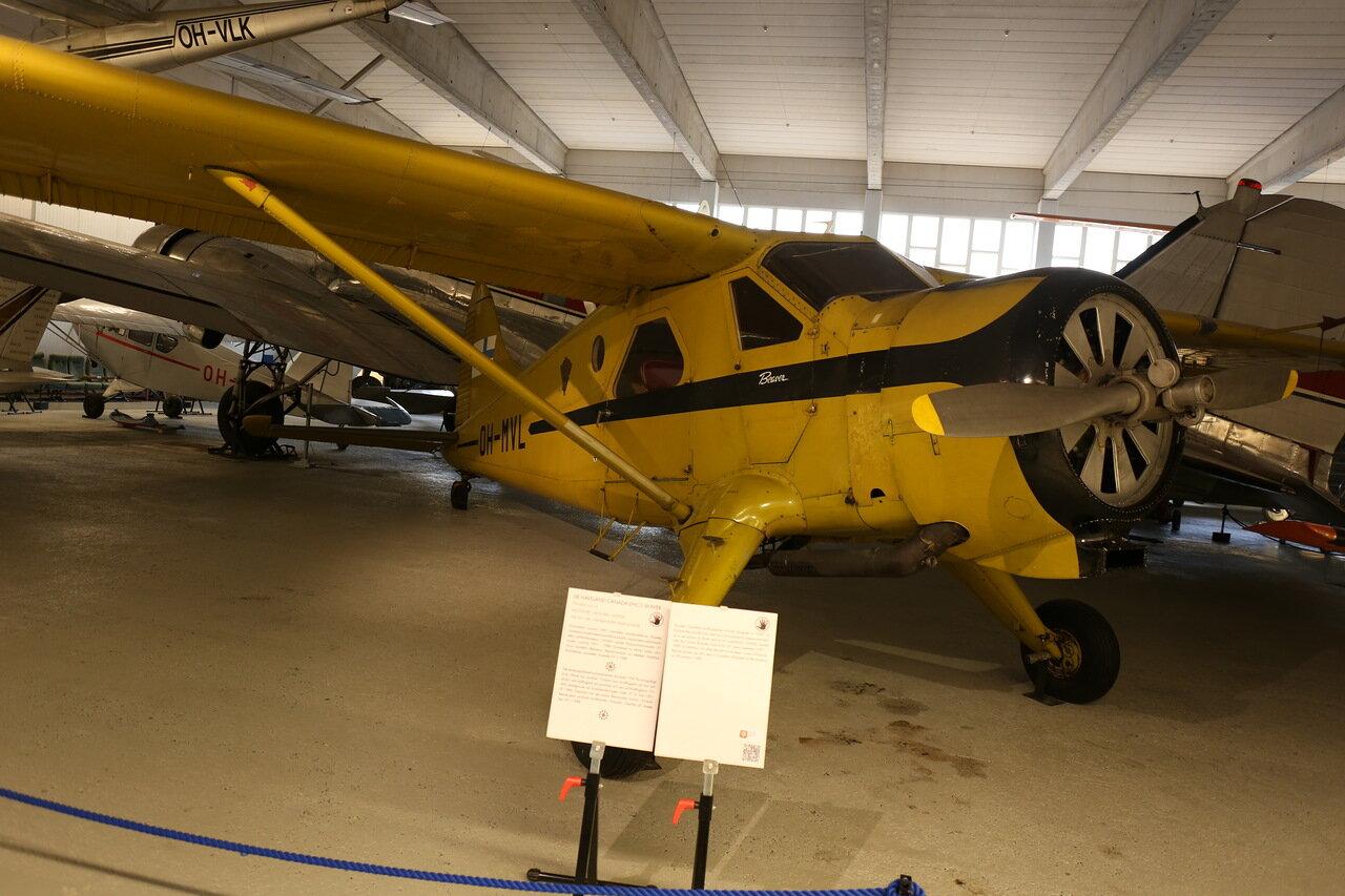 Авиамузей Хельсинки-Вантаа. Зал гражданской авиации. De Havilland Canada DHC-2 Beaver. Finnish Aviation museum.