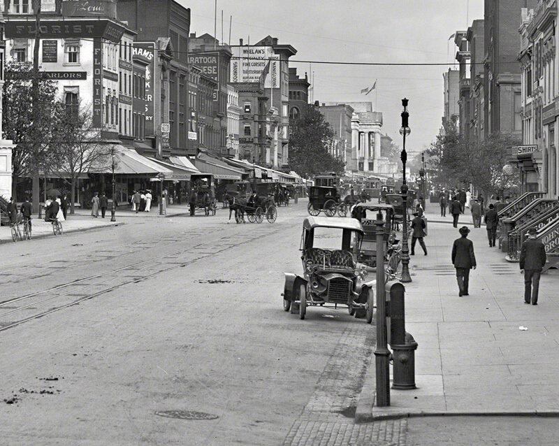 F Street Northwest in Washington, D.C., circa 1906