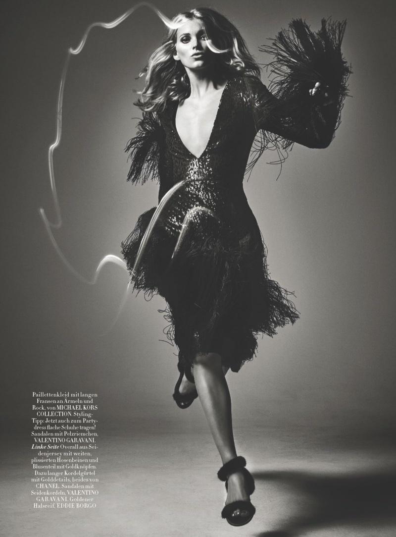 Эльза Хоск на обложке немецкого Harper's Bazaar