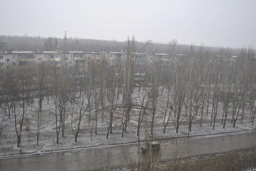зима луганск снег