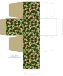 шаблоны подарочных коробок