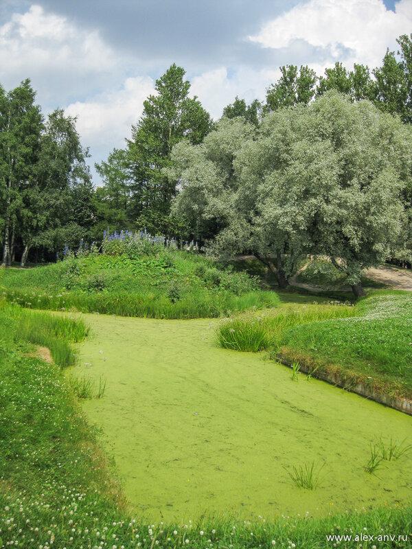 Московский парк Победы. Прямые и строгие аллеи парка соседствуют с дико выглядящими тропинками вдоль каналов и прудов.