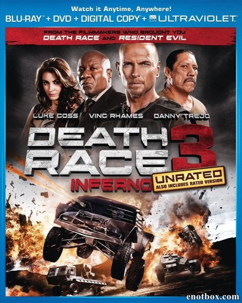 Смертельная гонка 3 / Death Race: Inferno [UNRATED] (2013/BDRip/HDRip)