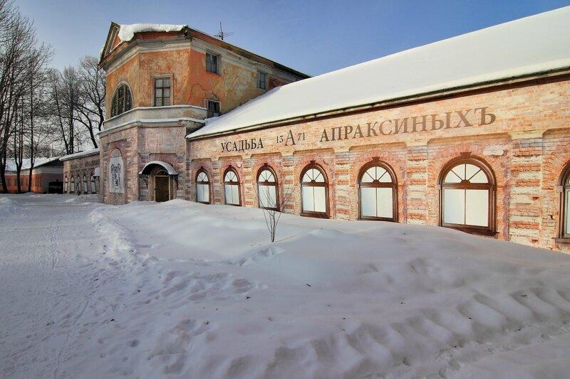 Здание бывшего крепостного театра (Северный флигель), усадьба Ольгово